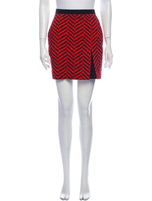 Emanuel Ungaro Printed Mini Skirt Red