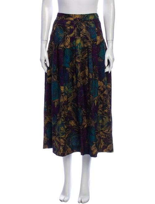 Emanuel Ungaro Vintage Midi Length Skirt Green