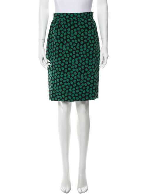Emanuel Ungaro Vintage Knee-Length Skirt Green