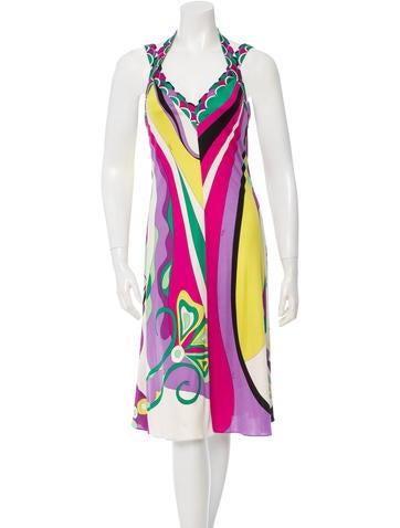 Sleeveless Printed Dress
