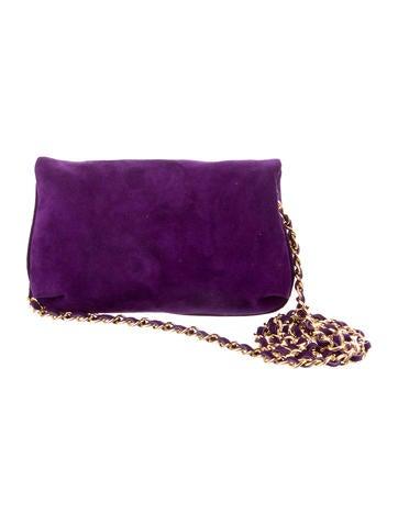 Suede Tasssel Accented  Shoulder Bag