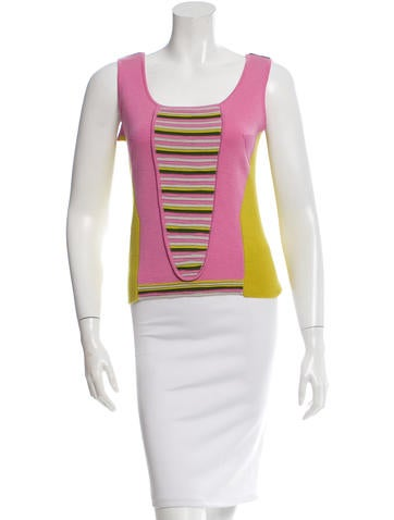 Emilio Pucci Wool Sleeveless Top None