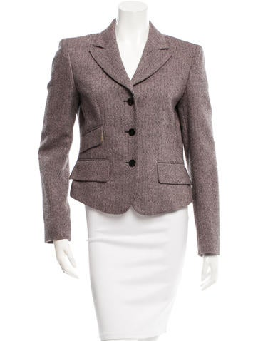 Emilio Pucci Patterned Wool Blazer None