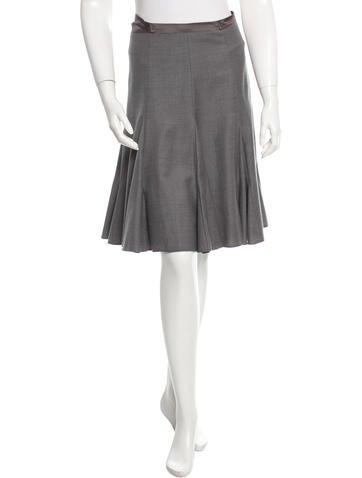 Emilio Pucci Silk-Trimmed Wool Skirt None