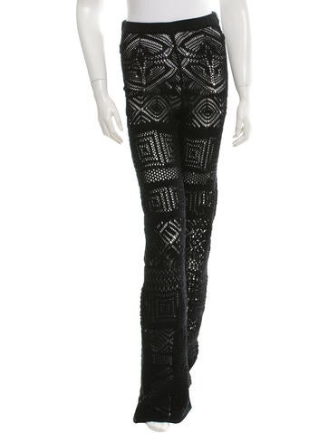 Emilio Pucci Crochet Straight-Leg Pants w/ Tags