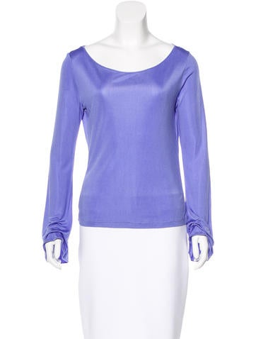 Emilio Pucci Silk Bell Sleeve Top None