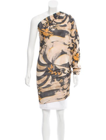 Emilio Pucci One-Shouldered Silk Top None