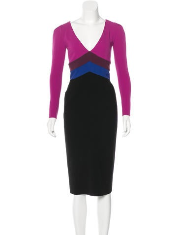 Emilio Pucci Wool Colorblock Dress None