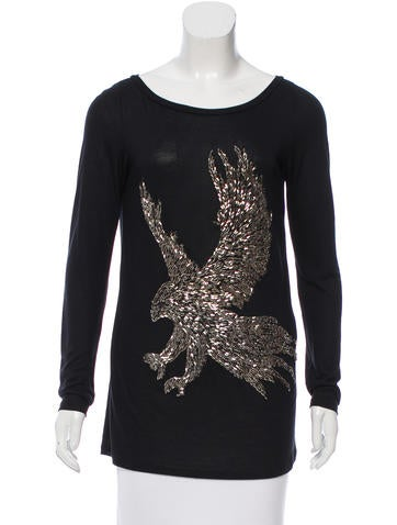 Emilio Pucci Embellished Scoop Neck Top None