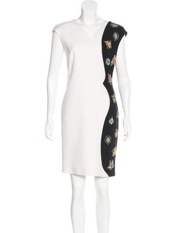 Emilio Pucci Virgin Wool Embellished Dress None