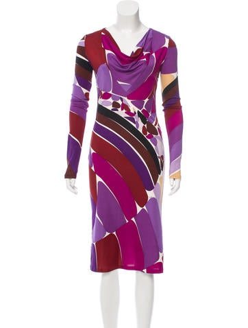 Emilio Pucci Printed Silk Dress None
