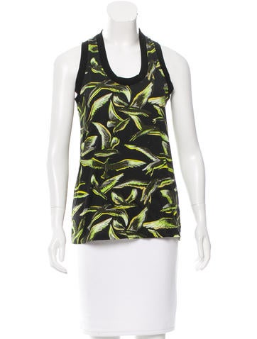 Emilio Pucci Bird Patterned Sleeveless Top None