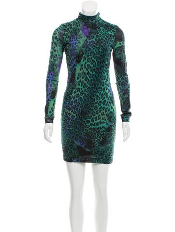Emilio Pucci Leopard Print Wool Dress None