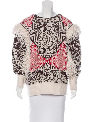 Emilio Pucci Mohair & Wool Fringe Sweater None