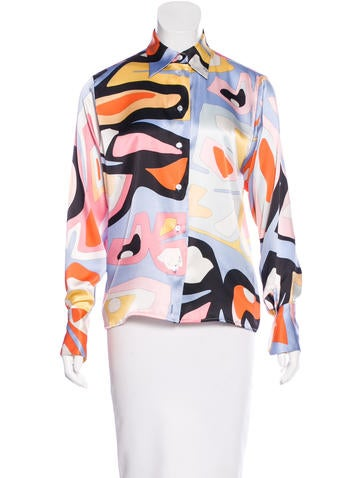Emilio Pucci Abstract Print Button-Up