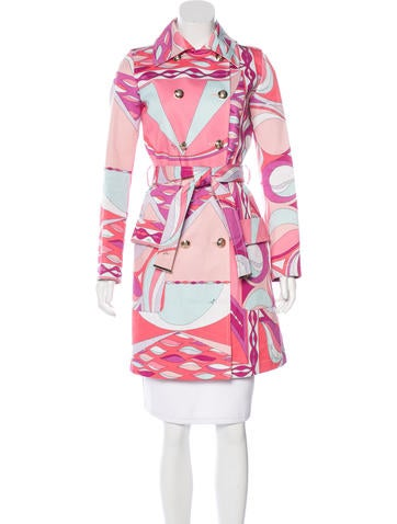 Emilio Pucci Double-Breasted Trench Coat!