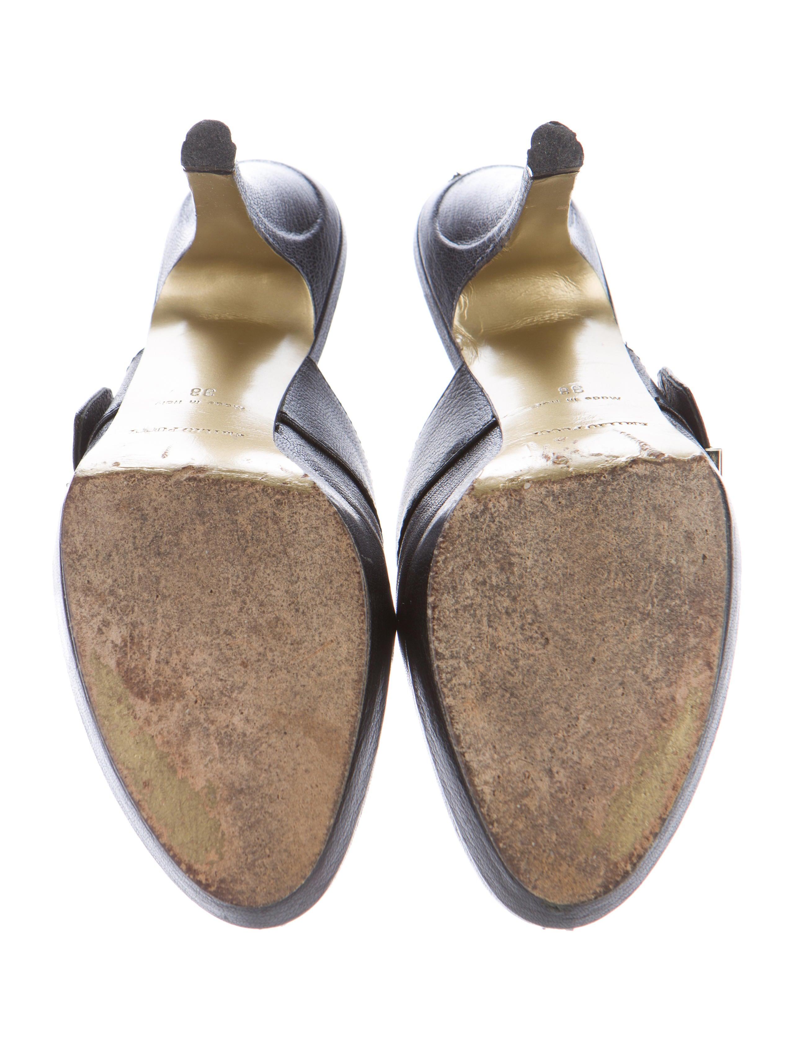 emilio pucci leather platform mules shoes emi35669