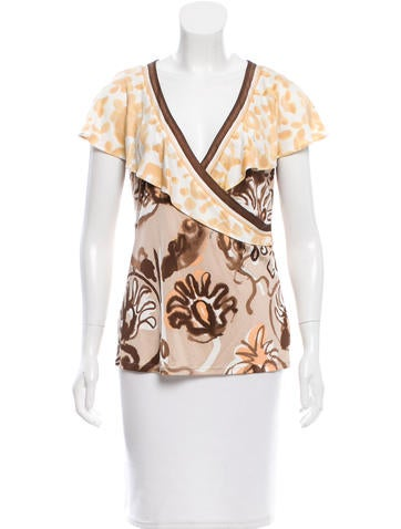 Emilio Pucci Silk Printed Top None