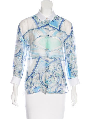 Emilio Pucci Long Sleeve Button-Up Top None