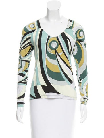 Emilio Pucci Printed Long Sleeve Top None