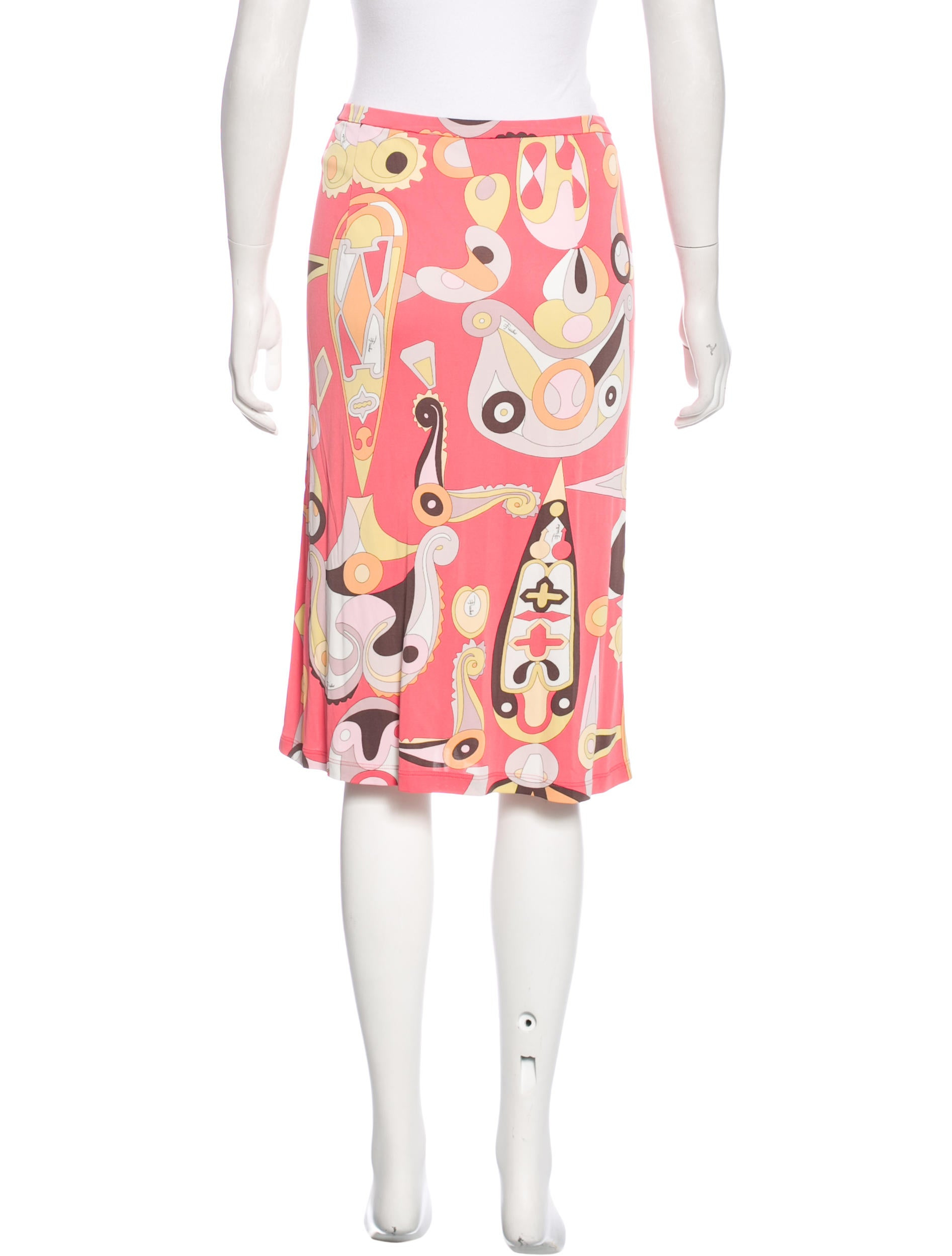 emilio pucci abstract print pencil skirt clothing