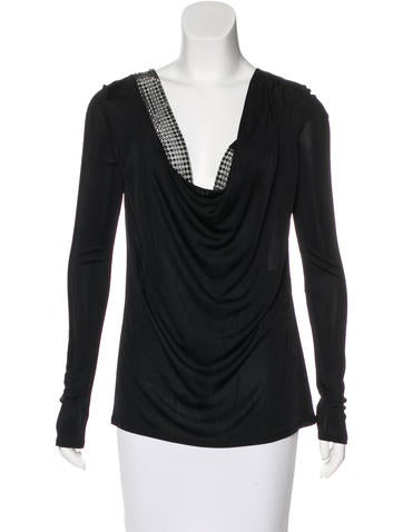 Emilio Pucci Embellished Long Sleeve Top None