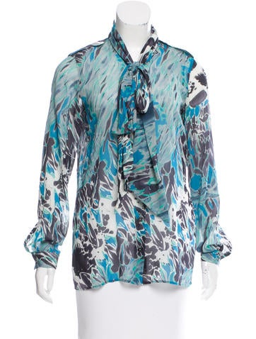 Emilio Pucci Signature Print Silk Top None