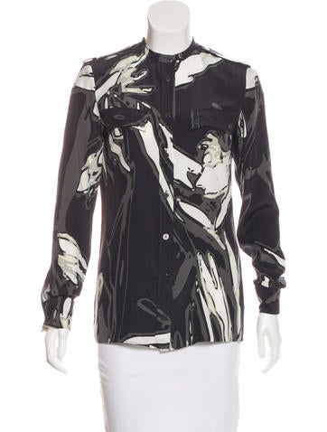 Emilio Pucci Silk Button-Up Top None