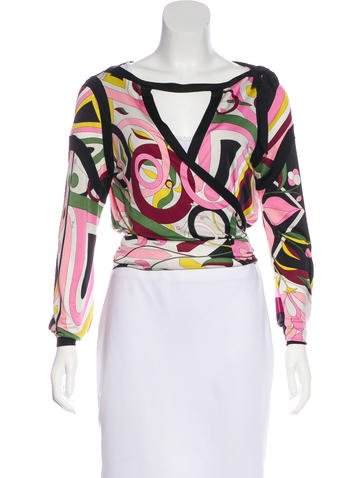 Emilio Pucci Silk Long Sleeve Top None