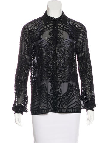 Emilio Pucci Embellished Button-Up Top None