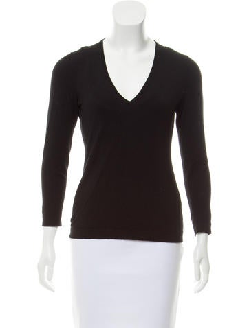 Emilio Pucci Wool Long Sleeve Top None