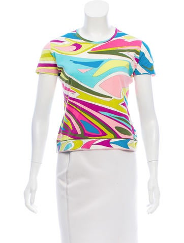 Emilio Pucci Printed Short Sleeve Top None