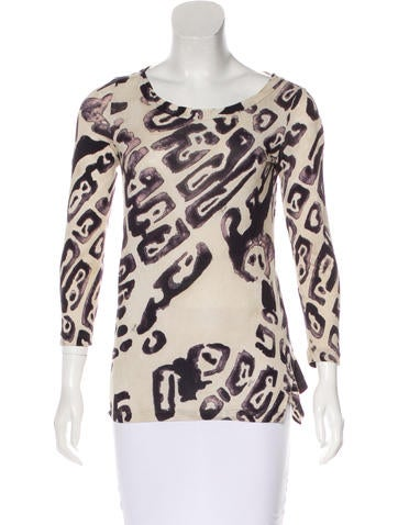 Emilio Pucci Long Sleeve Printed Top None