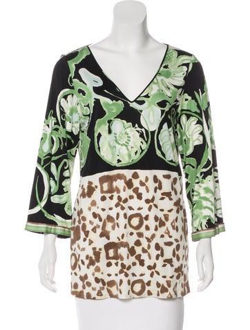 Emilio Pucci Knit Silk Top None