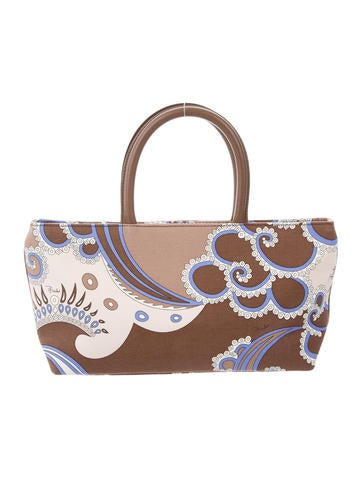 Emilio Pucci Printed Top Handle Bag None