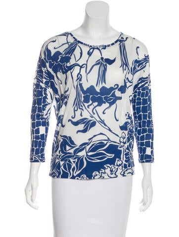 Emilio Pucci Jersey Long Sleeve Top None