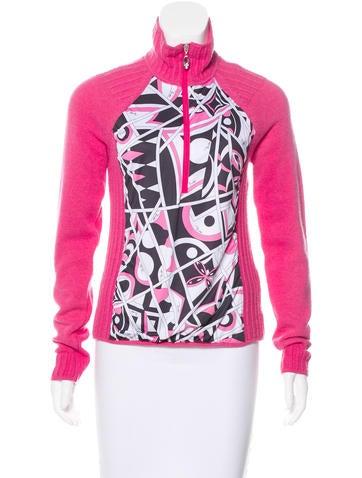 Emilio Pucci Wool Zip-Up Sweater None