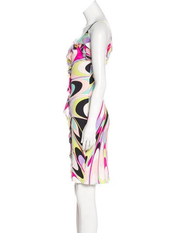 Silk Jersey Knee-Length Dress