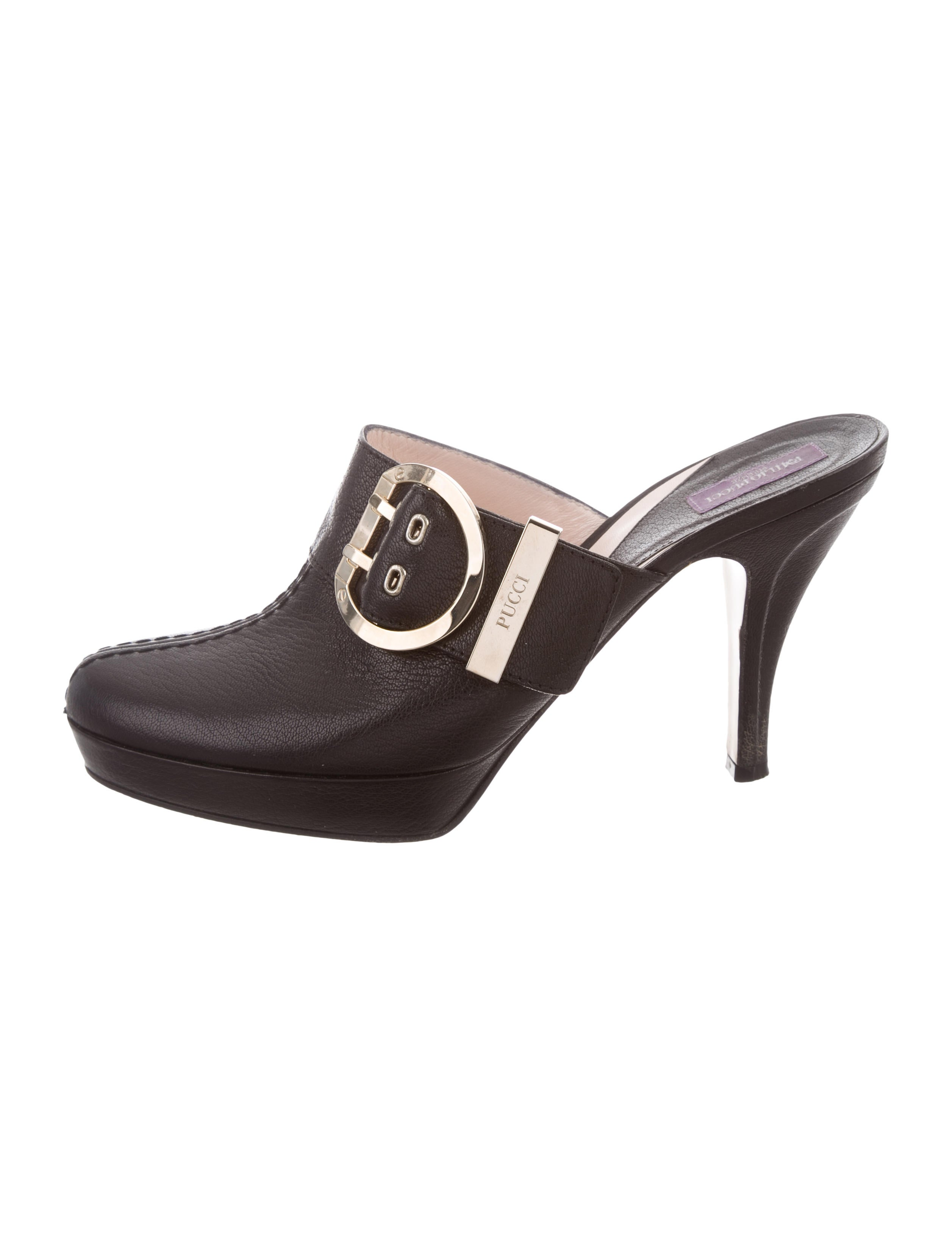 Emilio Pucci Platform Semi Pointed-Toe Clogs discount browse collections cheap price x8nw9vg