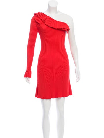 Emilio Pucci One-Sleeve Rib Knit Dress None