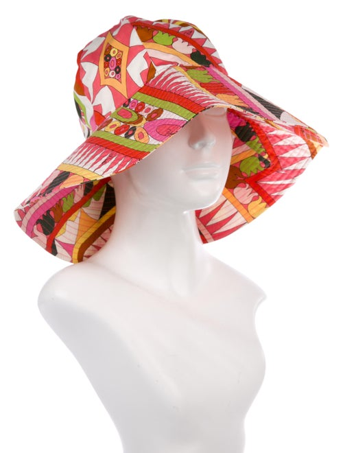 bbd5818f20022 Emilio Pucci Printed Wide-Brim Bucket Hat - Accessories - EMI44369 ...
