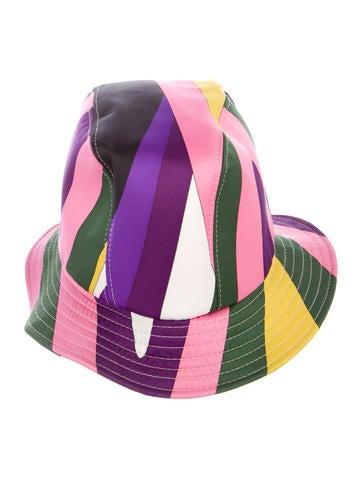 d4f342bfb75 Emilio Pucci. Satin Printed Bucket Hat