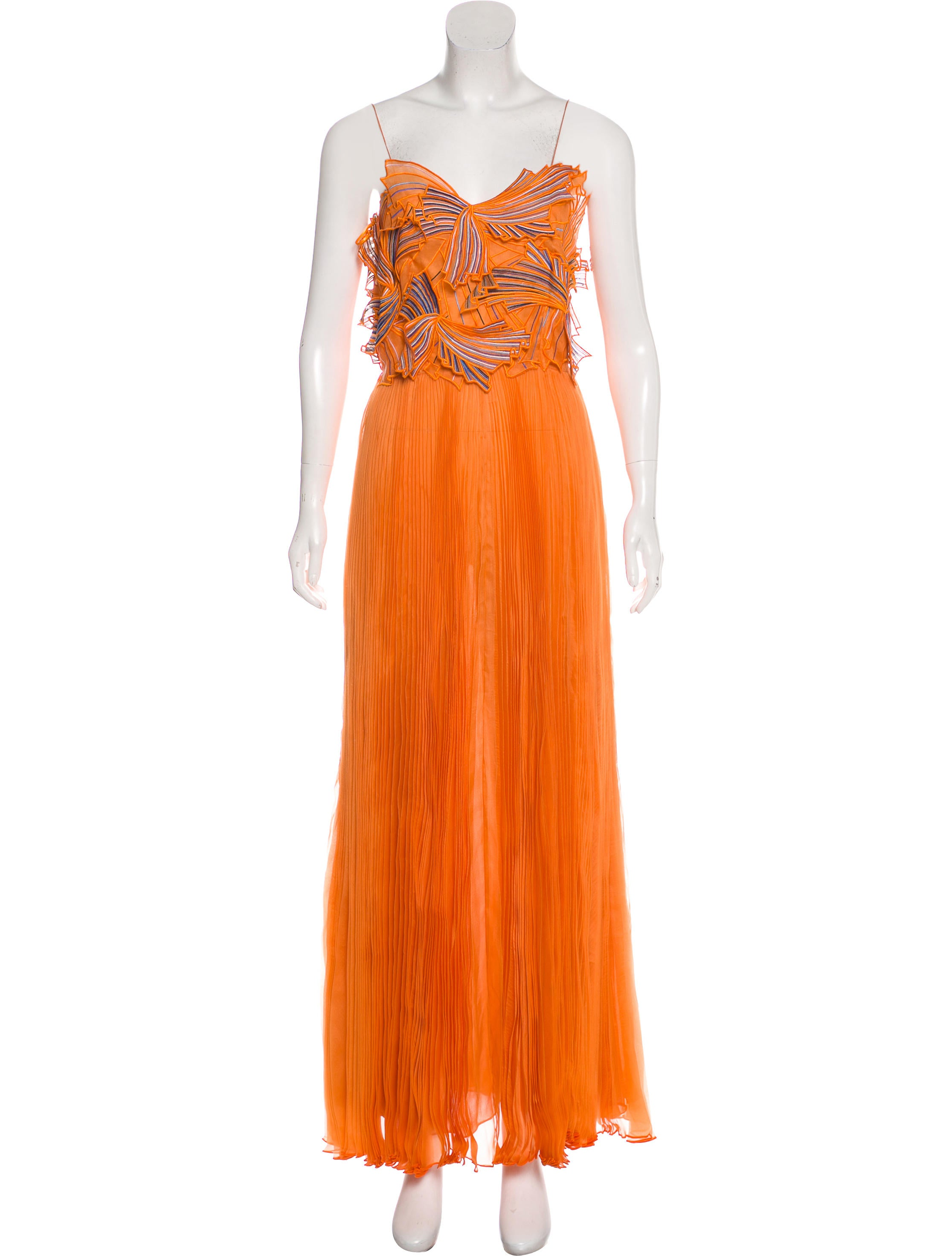 Emilio Pucci Silk Pleated Gown - Clothing - EMI47623 | The RealReal