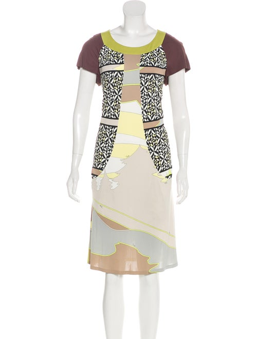 Emilio Pucci Abstract Print Dress Multicolor
