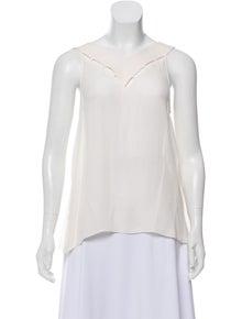 213ba22a641 Emilio Pucci. Cutout Silk Top. Size: M   US 6