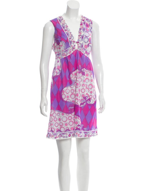 Emilio Pucci Print Mini Dress Pink