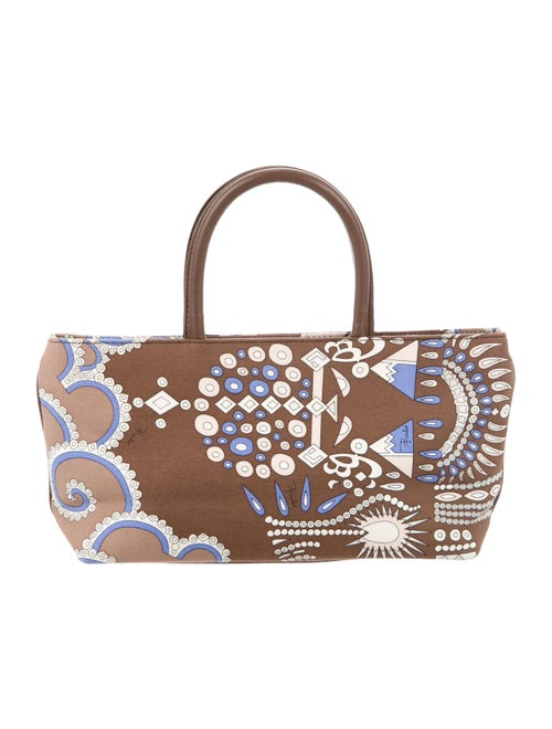 Emilio Pucci Print Tote Bag Brown