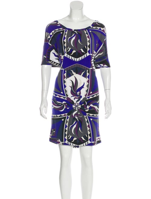 Emilio Pucci Abstract Print Mini Dress grey