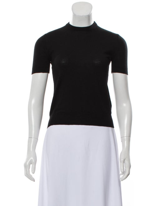 Emilio Pucci Wool Short Sleeve Sweater Black