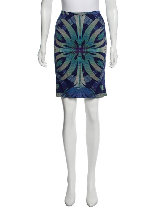 Emilio Pucci Abstract Print Mini Skirt Blue